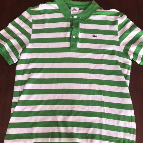 e7770f55a Lacoste Other - Lacoste Green   White Striped Polo Shirt